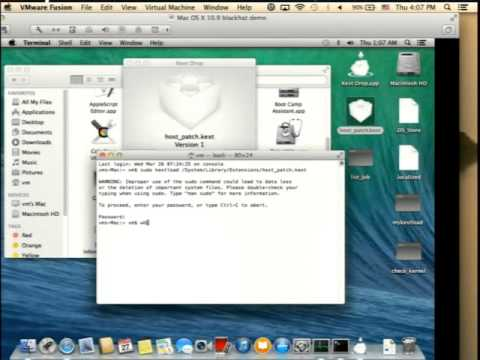 Using host privilege to load kernel module on Mac OS
