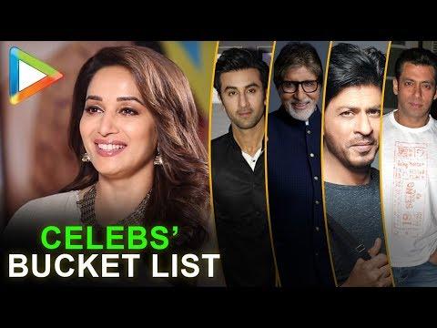 Madhuri Dixit REVEALS about Celebs' Bucket List | Salman | Big B | SRK | Ranbir Kapoor