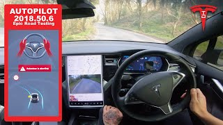Download Extreme Tesla Enhanced Autopilot Testing - Narrow Roads & Hills in Wales - How Will It Do? Video