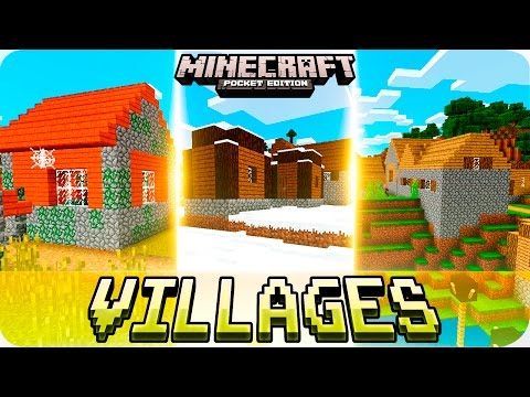 Minecraft PE Seeds - Zombie Village with Dungeon, Winter Village seed and more! 0.16.0 / 0.15.0 MCPE