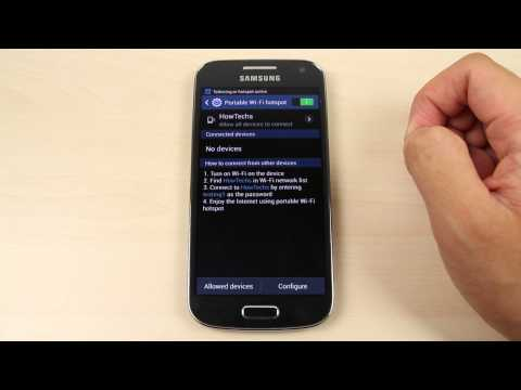 How to share the internet connection from Samsung Galaxy S4 mini
