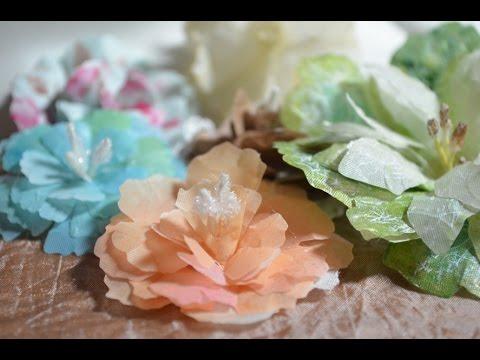 Tutorial Scrapbooking Flowers like Prima DIY[Stoffblumen,Anleitung,Deutsch]