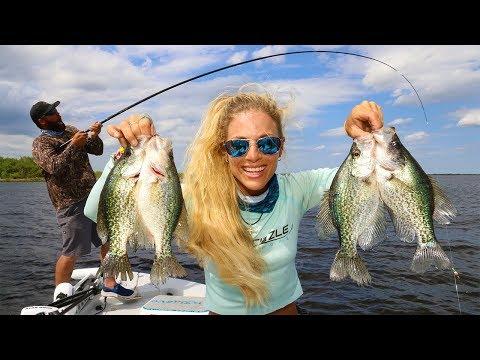 CRAPPIE Fishing with LIVE MINNOWS on Lake Okeechobee!