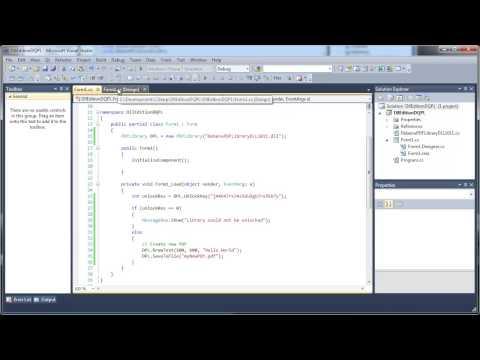 C#, Visual Studio and the DLL Edition of Debenu Quick PDF Library