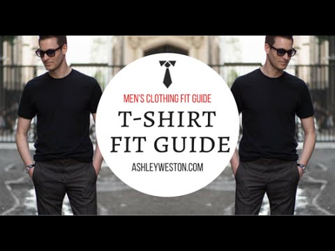 How Should A T-Shirt Fit - Men's Clothing Fit Guide - Crew Neck, V-Neck, Designer, Cheap