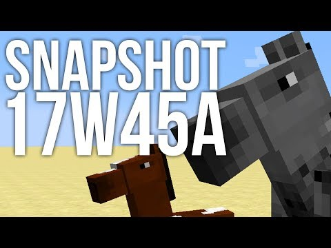 17w45a Snapshot: New Horses and Commands for Minecraft 1.13