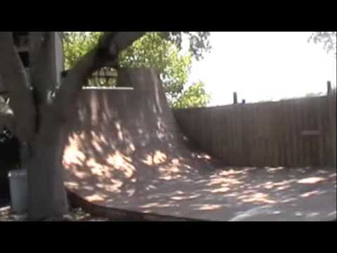 backyard halfpipe