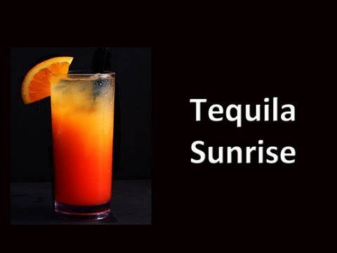 Tequila Sunrise Cocktail Drink Recipe