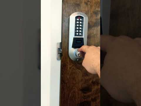 Kaba Eplex 5731 with Schlage override used in conjunction with an electric strike