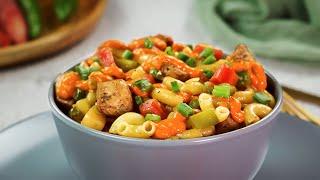 Chicken Macaroni Salad With Peri Peri Sauce By SooperChef   Iftar Recipes