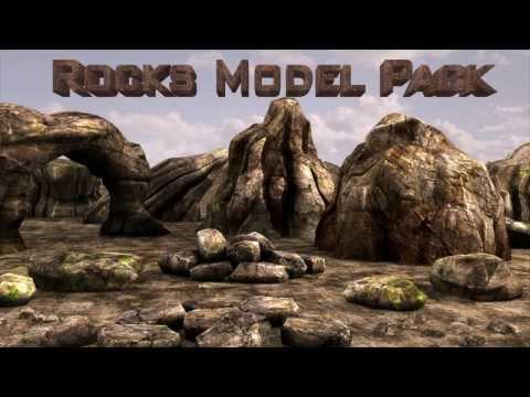 Simple Rocks  Model pack v1 For Element 3d