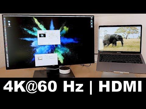 MacBook Pro 2016/2017 // 4K 60Hz Monitor via HDMI/Displayport verbinden // Uni // DEUTSCH