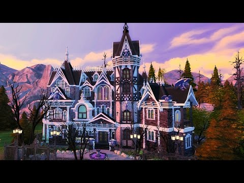 The Sims 4 VAMPIRE MANSION | Speed Build
