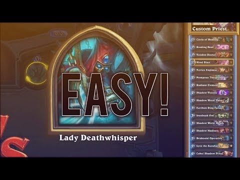 Hearthstone: How to Beat Lady Deathwhisper in 4 Turns!! EASY Priest Deck | @Lycan3o4