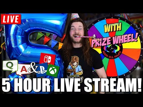 5 YEAR - 5 HOUR PARTY LIVE STREAM | PRIZES, SPIN WHEEL, Q&A, GAMEPLAY!