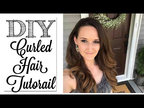 DIY Curled Hair Tutorial