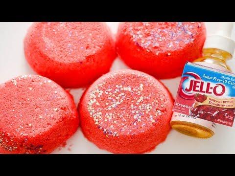 Making No Citric Acid Bathbombs DIY! CHERRY JELLO Bathbomb DIY Recipe!