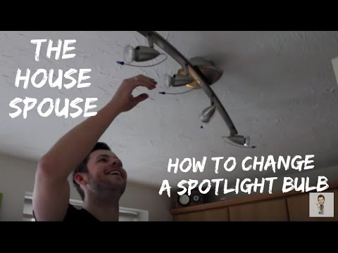 How to change a spotlight halogen bulb - The HouseSpouse