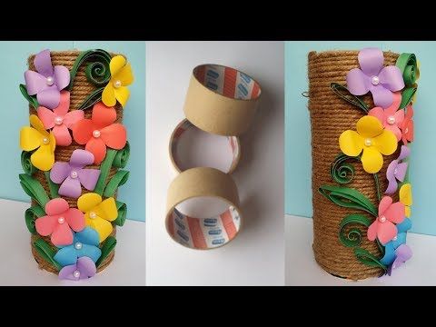 How to Make Best out of waste Flower vase !!! Jute/Twine  Flower Vase !!!! Unique