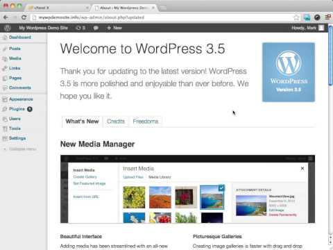 WordPress How to - Update Wordpress To The Latest Version [Video 4 of 11]
