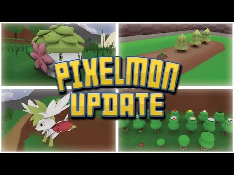 SHAYMIN + NEW APRICORN & BERRY TREES *NEW FEATURE*| PIXELMON UPDATE TRAILER REVIEW