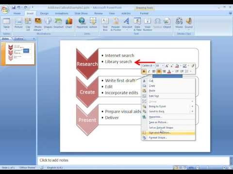 Office 2007 Demo: Add lines or callouts to your SmartArt graphic