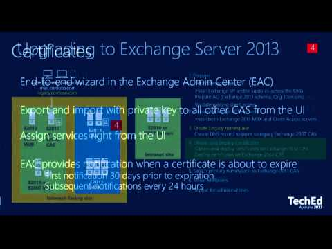 Exchange Server 2013 Upgrade and Coexistence