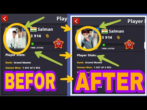 How to change profile picture on 8 ball pool    Hindi   