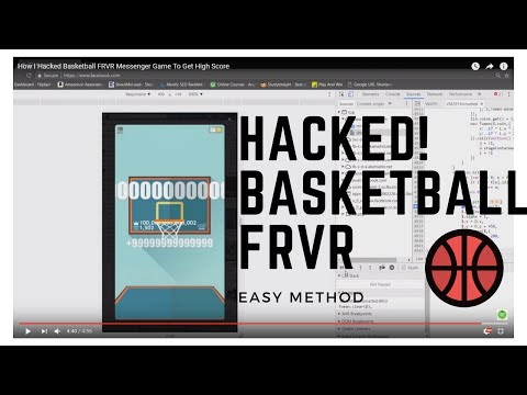 How I Hacked Basketball FRVR Messenger Game To Get High Score