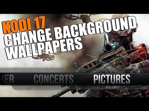 KODI 17 How To Change Background Wallpaper Image Easy Tutorial
