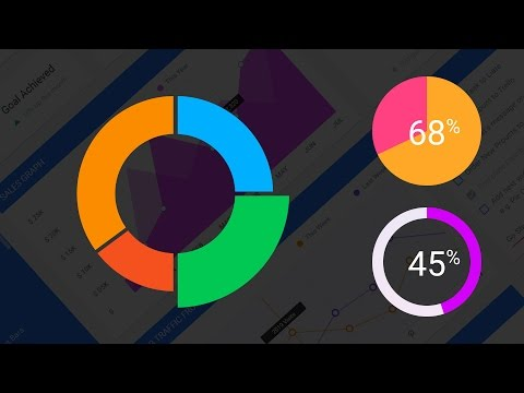 How to Create Doughnut Charts and Pie Charts in Photoshop | Adobe Photoshop Tutorial | DesignSpace