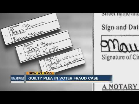Guilty plea in voter fraud case