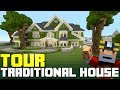 Minecraft: Green Traditional House Tour on Xbox One! (City Texture Pack)