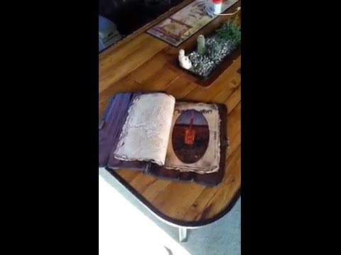 Handmade wooden book / portfolio