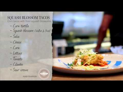 Squash blossom tacos, constructed | Plate Lab