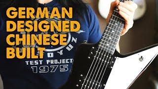 Metal Guitar: Harley Benton Victory Flame V EMG H4+H3, Mesa