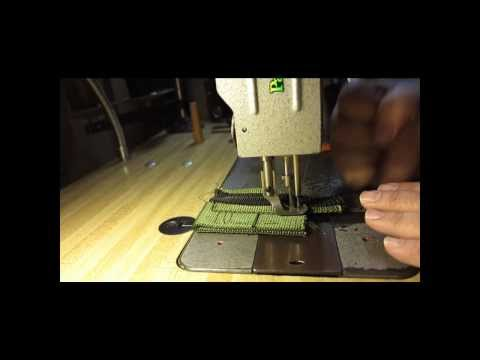 Sewing Tactical Nylon Webbing with a Consew 206RB Industrial Walking Foot Sewing Machine