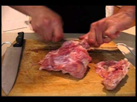 Deboning chicken leg quarter