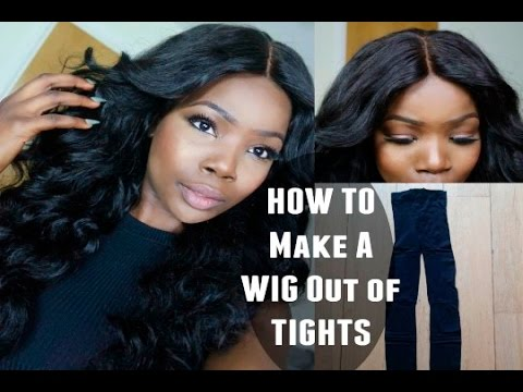 How To Make A Full Wig Using Just Tights + DIY Dome Cap ❤︎ | MsDebDeb