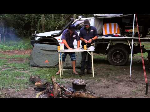 Cheese and Bacon Damper - Bush Cooking 4WD Action