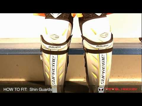 How to Fit Hockey Equipment: Shin guards