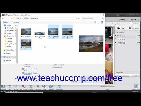 Photoshop Elements 2019 Tutorial Importing Photos from Files and Folders Adobe Training