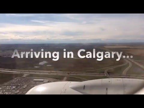 Arriving in Calgary n a WestJet 737-700