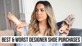 BEST & WORST DESIGNER SHOE PURCHASES! GUCCI, CHANEL, VALENTINO & LOUBOUTIN | ALEXANDREA GARZA