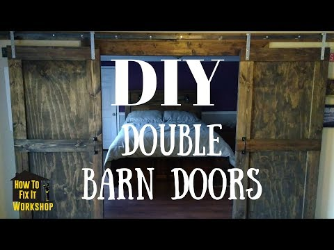How to make your own barn door track system -