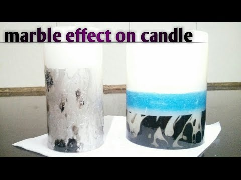 How to do marbling on wax candle