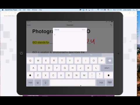 Working with a PDF file on an iPad in Adobe Reader