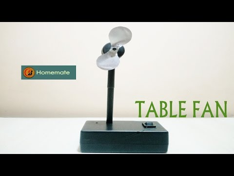 How to Make an Electric Table Fan using Bottle black caps and pen -Very Easy
