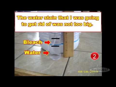 How to get rid of water stains on the ceiling