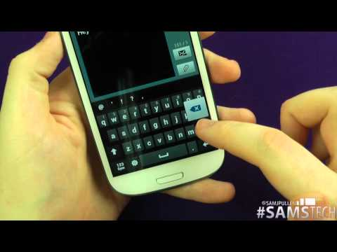 Samsung Galaxy S3 - Keyboard